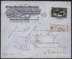 Sale Number 1056, Lot Number 441, Domestic and Foreign Uses, $1.00-$2.00 on Cover$1.00 Trans-Mississippi (292), $1.00 Trans-Mississippi (292)