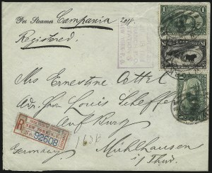 Sale Number 1056, Lot Number 443, Domestic and Foreign Uses, $1.00-$2.00 on Cover$1.00 Trans-Mississippi (292), $1.00 Trans-Mississippi (292)
