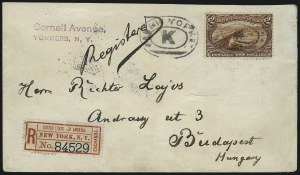 Sale Number 1056, Lot Number 444, Domestic and Foreign Uses, $1.00-$2.00 on Cover$2.00 Trans-Mississippi (293), $2.00 Trans-Mississippi (293)