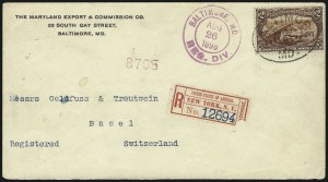 Sale Number 1056, Lot Number 445, Domestic and Foreign Uses, $1.00-$2.00 on Cover$2.00 Trans-Mississippi (293), $2.00 Trans-Mississippi (293)