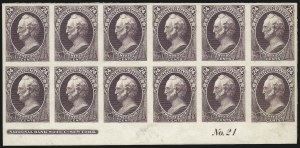 Sale Number 1057, Lot Number 527, Essays and Proofs (Bank Notes and Later Issues)24c Purple, Plate Proof on India (153P3), 24c Purple, Plate Proof on India (153P3)