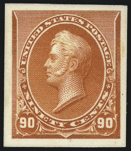 Sale Number 1057, Lot Number 535, Essays and Proofs (Bank Notes and Later Issues)1c-90c 1890-93 Issue, Plate Proofs on Card (219P4-229P4), 1c-90c 1890-93 Issue, Plate Proofs on Card (219P4-229P4)