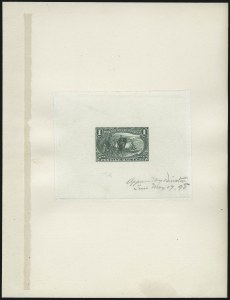 Sale Number 1057, Lot Number 542, Essays and Proofs (Bank Notes and Later Issues)1c-4c Trans-Mississippi, Large Die Proofs on India (285P1-287P1), 1c-4c Trans-Mississippi, Large Die Proofs on India (285P1-287P1)
