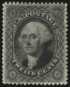 Sale Number 1057, Lot Number 591, 1857-60 Issue (Scott 18-39)12c Black, Plate 3 (36B), 12c Black, Plate 3 (36B)