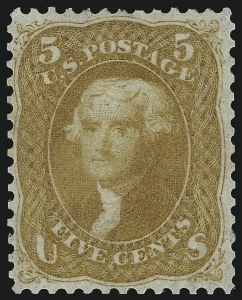 Sale Number 1057, Lot Number 622, 1861-66 Issue (Scott 56-78)5c Buff (67), 5c Buff (67)