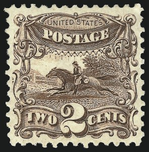 Sale Number 1057, Lot Number 691, 1875 Re-Issue of 1869 Pictorial Issue (Scott 123-133a)2c Brown, Re-Issue (124), 2c Brown, Re-Issue (124)