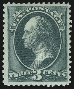Sale Number 1057, Lot Number 738, 1873 Continental Bank Note Co. Issue (Scott 156-166)3c Green, With Grill (158e), 3c Green, With Grill (158e)