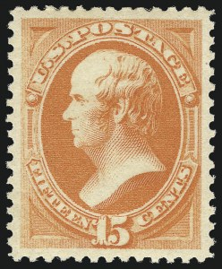 Sale Number 1057, Lot Number 773, 1879 American Bank Note Co. Issue (Scott 182-191)15c Red Orange (189), 15c Red Orange (189)