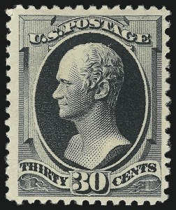 Sale Number 1057, Lot Number 786, 1880-85 American Bank Note Co. Special Printing (Scott 192-211D)30c Greenish Black, Special Printing (201), 30c Greenish Black, Special Printing (201)