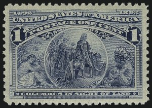 Sale Number 1057, Lot Number 816, 1893 Columbian Issue (Scott 230-245)1c Columbian (230), 1c Columbian (230)