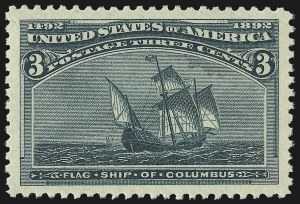 Sale Number 1057, Lot Number 818, 1893 Columbian Issue (Scott 230-245)3c Columbian (232), 3c Columbian (232)