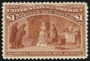 Sale Number 1057, Lot Number 827, 1893 Columbian Issue (Scott 230-245)$1.00 Columbian (241), $1.00 Columbian (241)