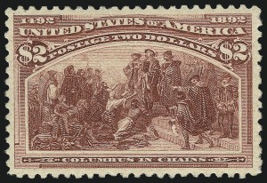 Sale Number 1057, Lot Number 828, 1893 Columbian Issue (Scott 230-245)$2.00 Columbian (242), $2.00 Columbian (242)