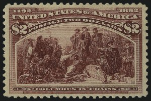 Sale Number 1057, Lot Number 829, 1893 Columbian Issue (Scott 230-245)$2.00 Columbian (242), $2.00 Columbian (242)