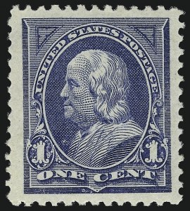 Sale Number 1057, Lot Number 835, 1894 Unwatermarked Bureau Issue (Scott 246-263)1c Blue (247), 1c Blue (247)