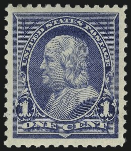 Sale Number 1057, Lot Number 836, 1894 Unwatermarked Bureau Issue (Scott 246-263)1c Blue (247), 1c Blue (247)