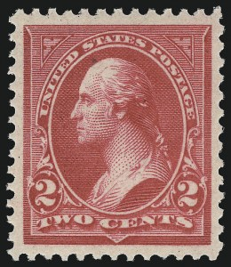 Sale Number 1057, Lot Number 840, 1894 Unwatermarked Bureau Issue (Scott 246-263)2c Carmine, Ty. III (252), 2c Carmine, Ty. III (252)