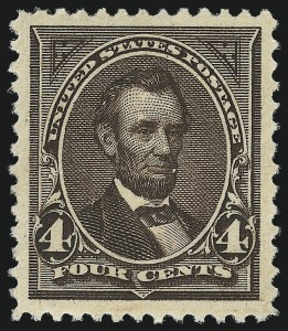 Sale Number 1057, Lot Number 841, 1894 Unwatermarked Bureau Issue (Scott 246-263)4c Dark Brown (254), 4c Dark Brown (254)