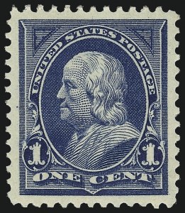Sale Number 1057, Lot Number 855, 1895 Watermarked Bureau Issue (Scott 264-278)1c Blue (264), 1c Blue (264)