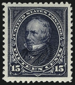 Sale Number 1057, Lot Number 860, 1895 Watermarked Bureau Issue (Scott 264-278)15c Dark Blue (274), 15c Dark Blue (274)