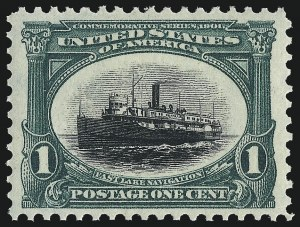 Sale Number 1057, Lot Number 883, 1901 Pan-American Issue, incl. Inverts (Scott 294-299)1c Pan-American (294), 1c Pan-American (294)