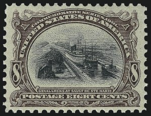 Sale Number 1057, Lot Number 886, 1901 Pan-American Issue, incl. Inverts (Scott 294-299)8c Pan-American (298), 8c Pan-American (298)