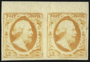 Sale Number 1059, Lot Number 6471, Labuan thru NetherlandsNETHERLANDS, 1852, 15c Orange (3; NVPH 3c), NETHERLANDS, 1852, 15c Orange (3; NVPH 3c)