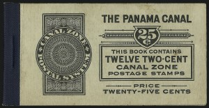 Sale Number 1060, Lot Number 3027, Canal ZoneCANAL ZONE, 1918, 2c Vermilion & Black, Booklet Pane of Six (53c), CANAL ZONE, 1918, 2c Vermilion & Black, Booklet Pane of Six (53c)
