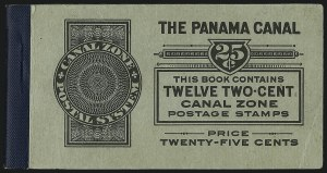 Sale Number 1060, Lot Number 3028, Canal ZoneCANAL ZONE, 1920, 2c Orange Vermilion & Black, Booklet Pane of Six (56g), CANAL ZONE, 1920, 2c Orange Vermilion & Black, Booklet Pane of Six (56g)