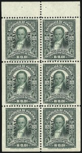 Sale Number 1060, Lot Number 3029, Canal ZoneCANAL ZONE, 1921, 1c Green, Booklet Pane of Six (60b), CANAL ZONE, 1921, 1c Green, Booklet Pane of Six (60b)