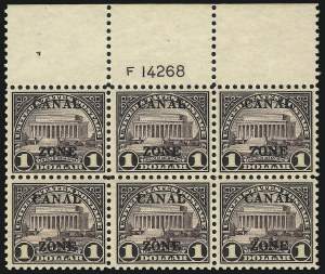 Sale Number 1060, Lot Number 3035, Canal ZoneCANAL ZONE, 1925, $1.00 Violet Brown, Ty. B Ovpt. (95), CANAL ZONE, 1925, $1.00 Violet Brown, Ty. B Ovpt. (95)