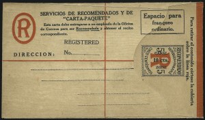 "Sale Number 1060, Lot Number 3045, Canal ZoneCANAL ZONE, 1919, 10c on 5c Black & Red on Cream, Registration, 9-1/4mm Between ""Canal"" and ""Zone"" (UF1a), CANAL ZONE, 1919, 10c on 5c Black & Red on Cream, Registration, 9-1/4mm Between ""Canal"" and ""Zone"" (UF1a)"
