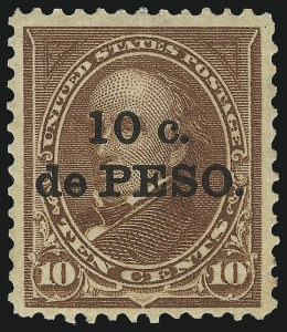 "Sale Number 1060, Lot Number 3050, Cuba thru Danish West IndiesCUBA, 1899, 10c on 10c Brown, Ty. I, ""Cuba"" Omitted (226b), CUBA, 1899, 10c on 10c Brown, Ty. I, ""Cuba"" Omitted (226b)"
