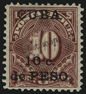 "Sale Number 1060, Lot Number 3054, Cuba thru Danish West IndiesCUBA, 1900, 1c-10c Postage Due Special Printing, Ty. E ""Specimen"" Ovpt. (J1-J4 var), CUBA, 1900, 1c-10c Postage Due Special Printing, Ty. E ""Specimen"" Ovpt. (J1-J4 var)"