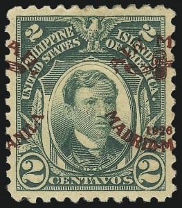 Sale Number 1060, Lot Number 3131, Philippines, Air Post thru Special DeliveryPHILIPPINES, 1926, 2c Green, Air Post, Split Ovpt. (C1 var), PHILIPPINES, 1926, 2c Green, Air Post, Split Ovpt. (C1 var)