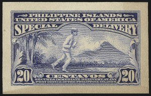 Sale Number 1060, Lot Number 3137, Philippines, Air Post thru Special DeliveryPHILIPPINES, 1913, 20c Ultramarine, Panama-Pacific Small Die Proof on Wove (E2P2a), PHILIPPINES, 1913, 20c Ultramarine, Panama-Pacific Small Die Proof on Wove (E2P2a)