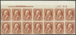Sale Number 1061, Lot Number 3235, Essays and Proofs, 1870 to Back-of-Book7c Orange Vermilion, Plate Proof on India (160P3), 7c Orange Vermilion, Plate Proof on India (160P3)