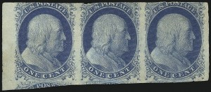 Sale Number 1061, Lot Number 3355, 1c-3c 1851-56 Issue (Scott 5A-11A)1c Blue, Ty. II (7), 1c Blue, Ty. II (7)