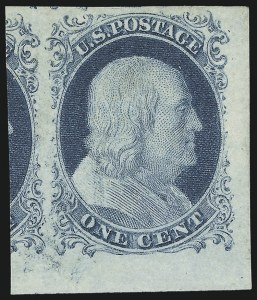 Sale Number 1061, Lot Number 3361, 1c-3c 1851-56 Issue (Scott 5A-11A)1c Blue, Ty. IV (9), 1c Blue, Ty. IV (9)