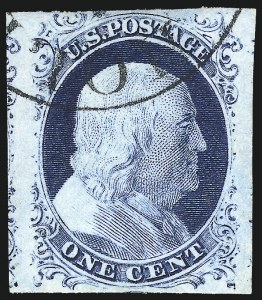 Sale Number 1061, Lot Number 3363, 1c-3c 1851-56 Issue (Scott 5A-11A)1c Blue, Ty. IV (9), 1c Blue, Ty. IV (9)