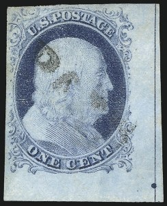 Sale Number 1061, Lot Number 3364, 1c-3c 1851-56 Issue (Scott 5A-11A)1c Blue, Ty. IV (9), 1c Blue, Ty. IV (9)
