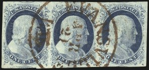 Sale Number 1061, Lot Number 3365, 1c-3c 1851-56 Issue (Scott 5A-11A)1c Blue, Ty. IV (9), 1c Blue, Ty. IV (9)