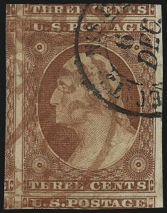 Sale Number 1061, Lot Number 3366, 1c-3c 1851-56 Issue (Scott 5A-11A)3c Orange Brown, Ty. II (10A), 3c Orange Brown, Ty. II (10A)