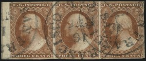 Sale Number 1061, Lot Number 3368, 1c-3c 1851-56 Issue (Scott 5A-11A)3c Orange Brown, Ty. II (10A), 3c Orange Brown, Ty. II (10A)