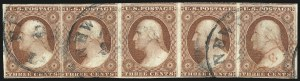 Sale Number 1061, Lot Number 3372, 1c-3c 1851-56 Issue (Scott 5A-11A)3c Brownish Carmine, Ty. I (11), 3c Brownish Carmine, Ty. I (11)