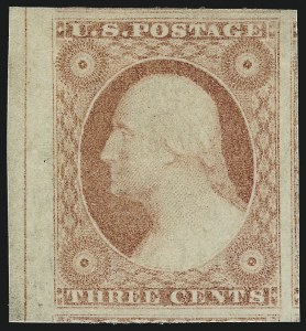 Sale Number 1061, Lot Number 3376, 1c-3c 1851-56 Issue (Scott 5A-11A)3c Dull Red, Ty. II (11A), 3c Dull Red, Ty. II (11A)