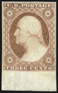 Sale Number 1061, Lot Number 3377, 1c-3c 1851-56 Issue (Scott 5A-11A)3c Dull Red, Ty. II (11A), 3c Dull Red, Ty. II (11A)