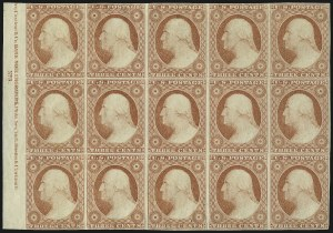 Sale Number 1061, Lot Number 3378, 1c-3c 1851-56 Issue (Scott 5A-11A)3c Dull Red, Ty. II (11A), 3c Dull Red, Ty. II (11A)