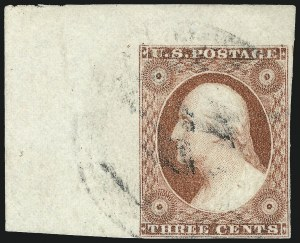 Sale Number 1061, Lot Number 3379, 1c-3c 1851-56 Issue (Scott 5A-11A)3c Dull Red, Ty. II (11A), 3c Dull Red, Ty. II (11A)