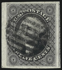 Sale Number 1061, Lot Number 3397, 5c-12c 1851-56 Issue (Scott 12-17)12c Black (17), 12c Black (17)